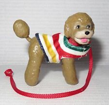 ACCESSORY PET ~ BARBIE DOLL HUDSON BAY POODLE DOG ON LEASH MINIATURE FOR DIORAMA