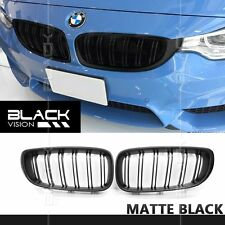 Matte Black Dual Slats Twin Front Mesh Grille for BMW 3 series F34 GT 2013-2016