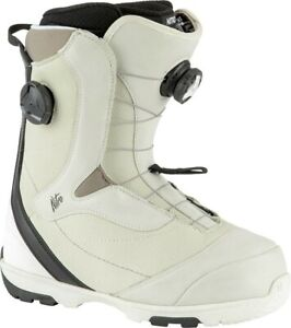 Nitro Cypress Dual Boa Snowboard Boots Women's 8 Bone / White New 2021