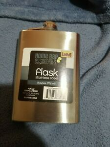 Home Bar Essentials Metal Flask 8 Ounce Stainless Steel