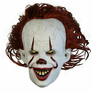Latex Horror LED Maske Halloween Pennywise Cosplay Clown Fasching Kostüme