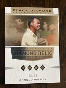 2021 Upper Deck Artifacts Black Diamond Relics Legends Quad /49 Arnold Palmer