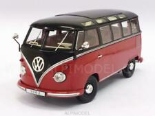1962 Volkswagen T1 VW Bulli Bus Samba 9 Sitze 25 Fenster rot schwarz 1:18 KK
