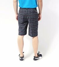 PUMA GOLF 563776 mens  PLAID TECH shorts SIZE 36 black blue white plaid