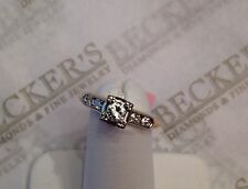 Art Deco 14k tt 5 Diamond Boxhead Engagement Ring .27 tw JK-VS1,2 sz 5.75