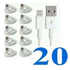 20xcabls Para Apple Iphone 5,5 C, 5s, 6 Ipad Cargador Cable de plomo al por mayor de puestos de trabajo Lote