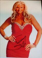 Sunny Signed WWE SEXY Red DRESS 8X10 Magazine Photo PSA/DNA Quick Opinion