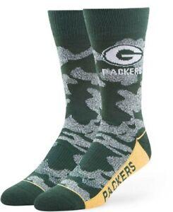 '47 Green Bay Packers Camo Socks Men size 9-13