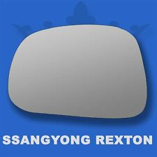 Ssangyong Rexton 2013-17 Flat Wing Mirror Glass For Left Passenger Side