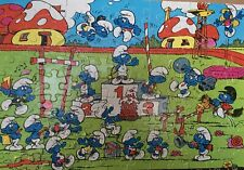 Smurf 1981 Vintage Jigsaw Puzzle 100 Pieces Complete Peyo Milton Bradley Smurfs
