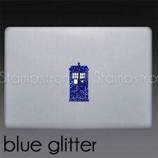 "DOCTOR WHO TARDIS GLITTER decal sticker MACBOOK pro mac laptop 13"" 15"" PHONE"