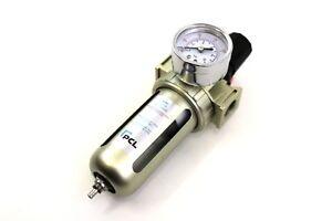 "PCL 1/2"" AIR FILTER REGULATOR (AFR1) for air tools, compressor, air lines"