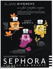 PUBLICITE ADVERTISING 105 2008  GIVENCHY  parfum ORGANZA AMARIGE VERY IRRESTIBLE