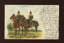 Military MIDDLESEX YEOMANRY Used 1910 u/b PPC creased