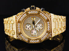 Men's Jewelry Unlimited Jojino Joe Rodeo Gold Lab Diamond Chronograph Watch 43MM
