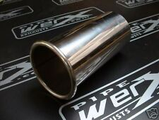 """Stainless Steel Exhaust Tail Trim 3""""x8"""" Roll Out Tip"""