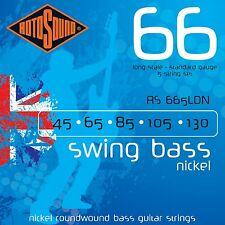 ROTOSOUND RS665LDN NICKEL ROUNDWOUND 5 STRING BASS GUITAR STRINGS 45-130