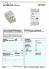 WAGO 751-5701 ASi DIGITAL IO IP20 4 IN / 4 OUT 24V / 2 A INTERFACE SLAVE - NEW!!
