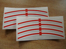 George Cross - English flag - Wheel rim decals - set of 8 - 150mm x 12mm approx