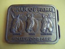 HOLLYWOOD PARK - WALK OF FAME BELT BUCKLE - 1980