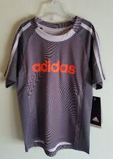 NEW $25 Adidas Boys SIZE 4 Fusion Camo Tee AA5878 GRAY Poly Shirt Top #535318