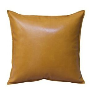 Faux Leather Throw Pillow Case Square Luxury Cushion Covers Bar Sofa Home Decor