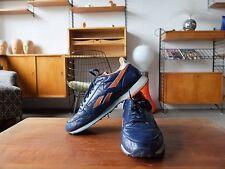 Reebok CLASSIC Sneaker Turnschuhe Leder Blau Orange RA 70  UK 7,5 True Vintage
