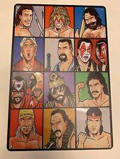 Wrestling Legends Fliar Hulk Hogan Macho Man Warrior Metal Poster Wwf Wcw Wwe
