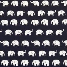 Cotton Print Fabric FQ All Over Elephant Cartoon Retro Dress Quilting Craft VA61
