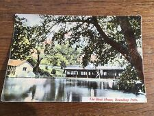 c1910 Antique Boat House Roundhay Park Leeds West Yorkshire Real Photo Postcard