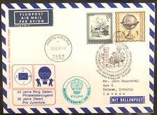 1977 Bad Voslau Austria Airmail Balloon Flight Cover Fdc To Batawa Canada