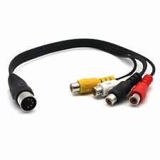 Din 5 Pin Male to 4 RCA Phono Female Sockets Adapter Audio Video Cable Cord