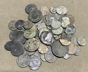 Lot Of 75Ancient Roman Coins Clean And Unclean # 17