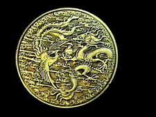 Fantasy~Mythical~Medieval ~Dragon~Phoenix~Challenge Like Coin~Silver Dollar Size