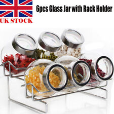 Set of 6 Airtight Top Glass Storage Jars | Airtight Vintage Kitchen Containers
