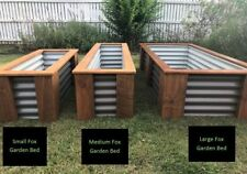 Large Rustic Raised Timberand Corrugated Steel Garden Bed
