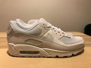 New Nike Air Max 90 Twist Women's 12 / Men's 10.5 Shoes Triple White CV8110-100