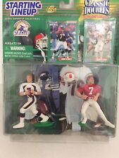 Starting Lineup Classic Doubles 1998 John Elway College & Pro In Protech Case