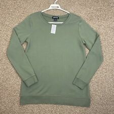 Sage Green Jumper Cornwall Cornish Cotton Cotton Blend Spring Size Small
