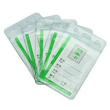 5 aterproof Clear PVC Badge Working Exhibition ID Name Card Holders WS I8N1