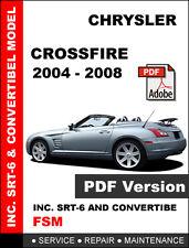 CHRYSLER CROSSFIRE 2004 - 2008 ULTIMATE FACTORY OEM SERVICE AND REPAIR MANUAL