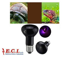 Lamp E27 R63 Moonlight Black Uv 75W Heat Heater Animals Reptiles