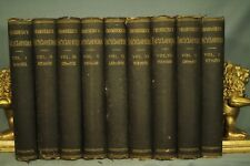 antique old Chamber's Encyclopaedia encyclopedias decorators shelf 1875