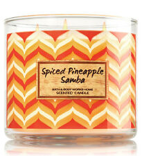 Bath & Body Works Spiced Pineapple Samba Three Wick 14.5 Ounces Scented Candle