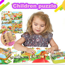 60PCS Wooden Puzzles For Toddler Children Learning Educational Jigsaw Kids Toys