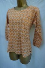 NEW WHITE STUFF MAPLE PRINT JERSEY TEE TOP CASUAL BLUE CORAL PINK MUSTARD 6 - 18