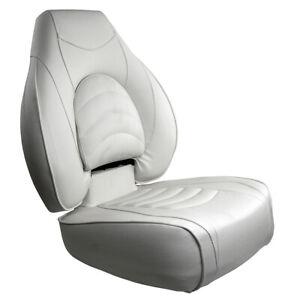 Springfield Fish Pro High Back Folding Seat - White 1041606-1