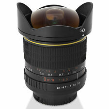 Digitalmate 8MM Aspherical Super Wide Fisheye Lens for Canon EOS EF Mount