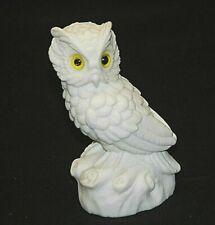 9ct Yellow Gold 43x15mm Owl Brooch Garnet Eyes
