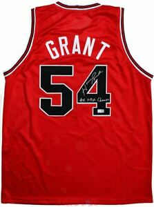Horace Grant Signed Chicago Red Custom Jersey Inscribed 4x NBA Champs TRISTAR